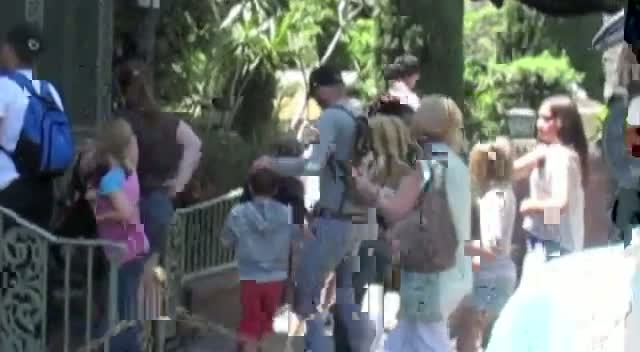 David Beckham And Family Enjoy A Day Out At Disneyland