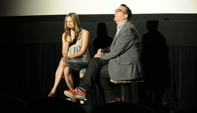 Mira Sorvino Signs An Autograph And Has Photo Taken With Fan Before Movie Screening