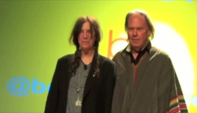 Patti Smith And Neil Young Arrive For An Interview At Book Expo America