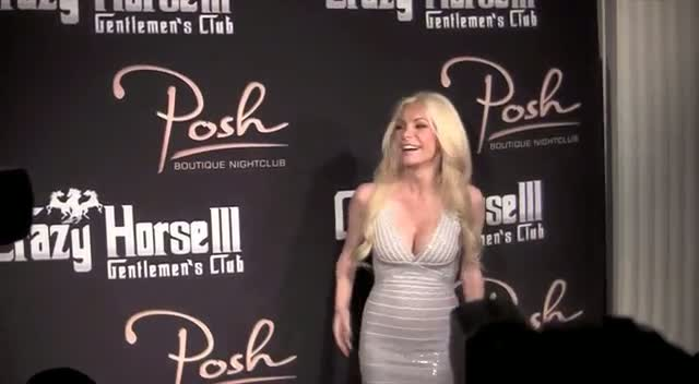 Crystal Harris Wears Figure Hugging Silver Dress In Vegas