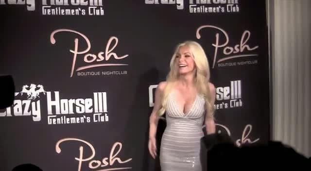 Crystal Harris Wears Figure Hugging Silver Dress In Vegas