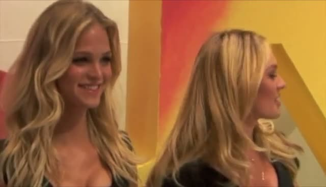 Erin Heatherton and Candice Swanepoel Wear Classy Little Black Dresses