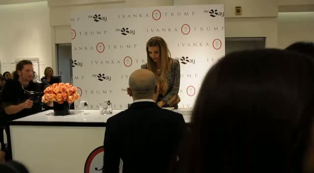 Ivanka Trump Chats To Fans - Ivanka Trump Launches New Collection Part 1