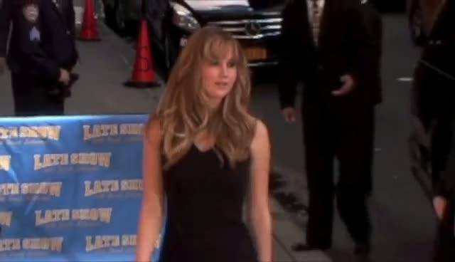 Jennifer Lawrence Shows Off Little Black Dress For David Letterman Show