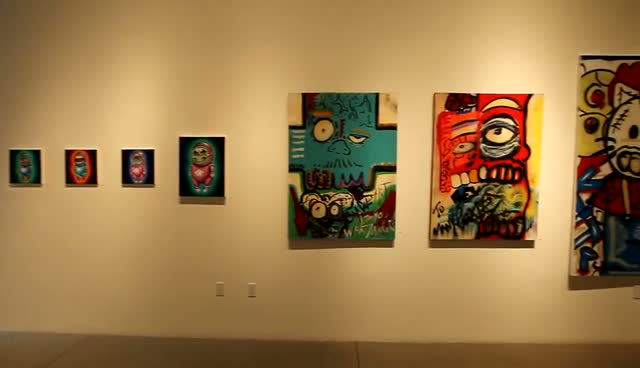 Chris Brown exhibits Abstract Art - Chris Brown's Art Show Part 5