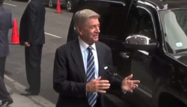 Comedian Tom Dreesen Arrives For David Letterman