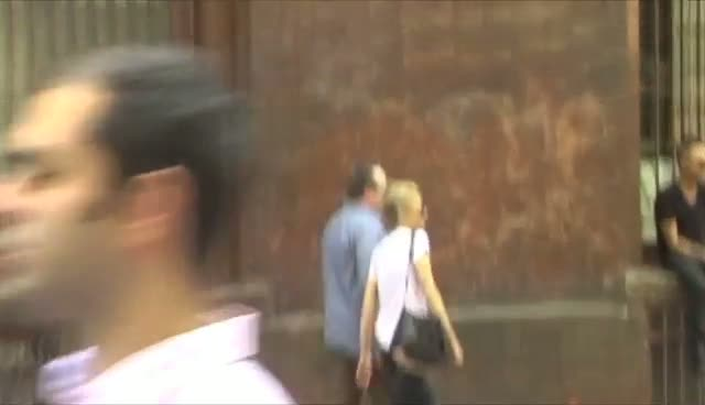 Eric Stonestreet Walks Through Soho With Blonde Female Friend