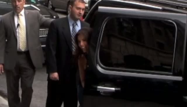 Eva Longoria Arrives David Letterman Show...