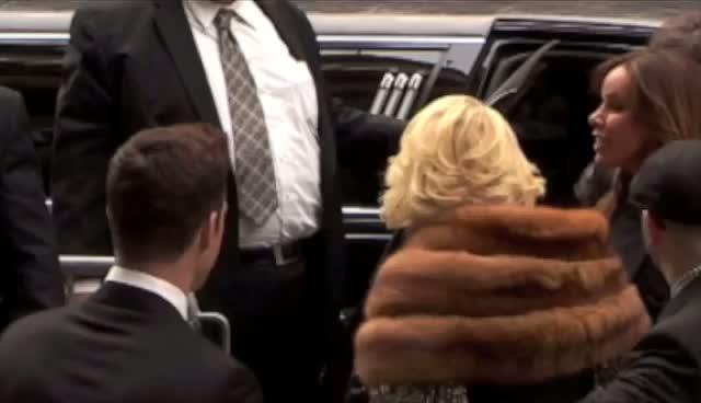 Fashion Police Hosts Joan Rivers And Kelly Osbourne - E! 2012 Upfront Arrivals Part 2