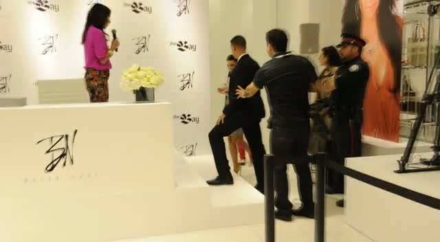Kim Kardashian Arrives To Screams At Jewellery Launch