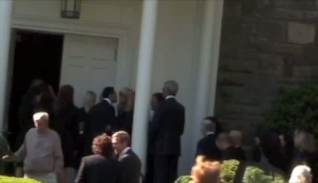 Larry David, Paul Shaffer And Andre Balazs Mourners Arrive For Mary Richardson Kennedy Funeral Part
