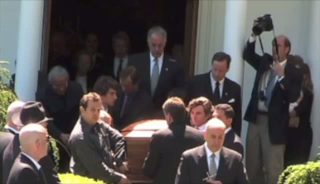 Mary Richardson Kennedy's Casket Returned To Hearse Following Service Part 3