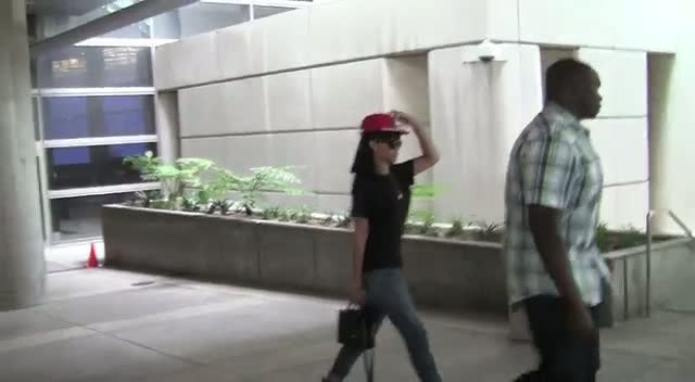 Rihanna Finally Arrives At LAX Dressed Down