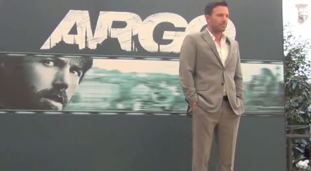 Ben Affleck Looks Well Groomed At Italy 'Argo' Photocall