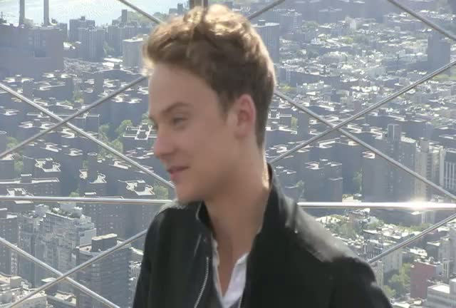 Conor Maynard Is Photographed On The Observation Deck Of Empire State Building