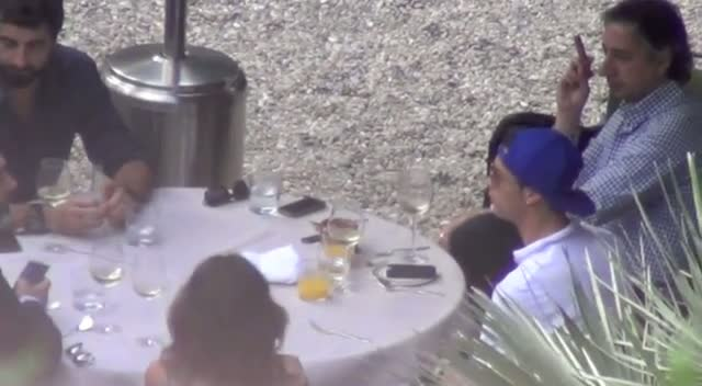 Cristiano Ronaldo Relaxes In Rome With Friends After Champion's League Loss