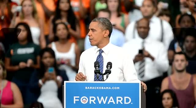President Obama Reminds Audience Of Lower Unemployment Rate While He's Been In Office - Part 2