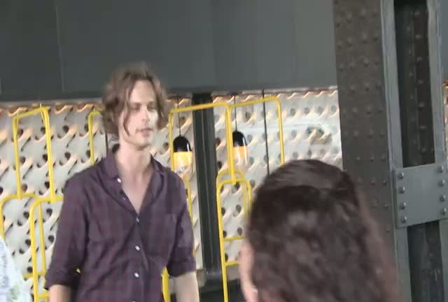 Friendly Matthew Gray Gubler Chats With Paparazzi And Fans While Out In New York City