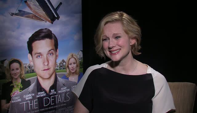Laura Linney Discusses 'Crazy Neighbours' At 'The Details' Press Junket