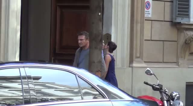 Liam Neeson Shoots A Scene In Rome For Upcoming Romance Drama Movie