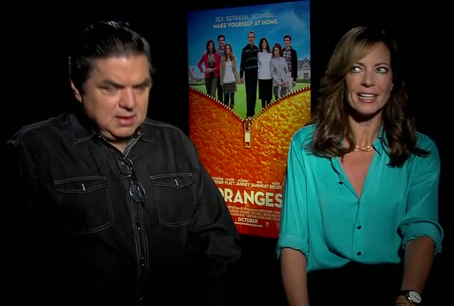 Oliver Platt And Allison Janney Loved Working Together On 'The Oranges'