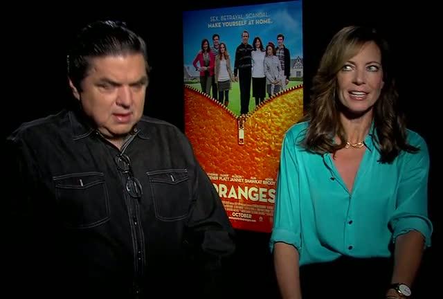 Oliver Platt And Allison Janney Loved Working Together On 'The Oranges'
