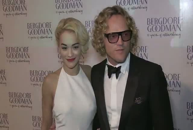 Rita Ora And Designer Peter Dundas...