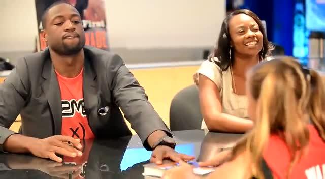 Dwyane Wade High Fives Young Girl At Book Signing - Part 1