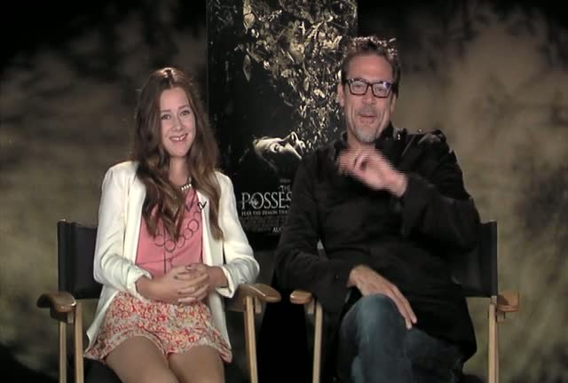 Jeffrey Dean Morgan And Natasha Calis Discuss Strange Happenings On The Set of The Possession