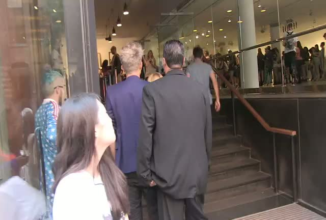 Ryan Lochte Wishes Happy Birthday To A Fan Whilst Leaving The Jeremy Scott Show At Mercedes-Benz Fashion Week