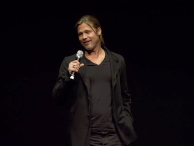 Brad Pitt Introduces His 'World War Z' Movie At A CinemaCon Preview