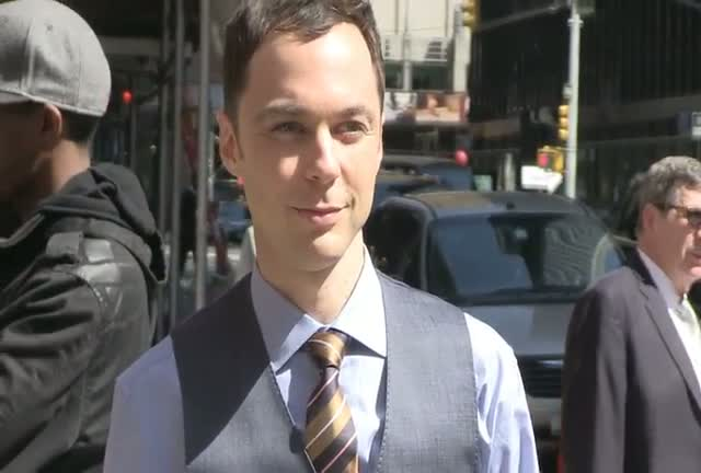 Jim Parsons From 'The Big Bang Theory' Snapped Outside David Letterman Show