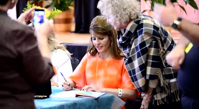 Nia Vardalos Signs Copies Of Her Autobiographical Book 'Instant Mom' At A Florida Greek Orthodox Church - Part 1