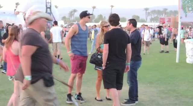 Paris Hilton Embraces Her Summer Wardrobe For Coachella 2013
