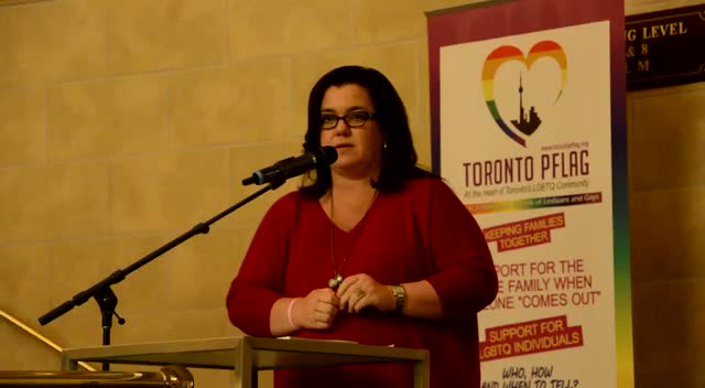 Rosie O'Donnell Introduces Sharon Gless For Her Ally Award At Toronto's PFLAG Presentation