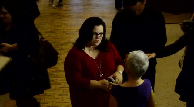 Rosie O'Donnell Meets PFLAG President Irene Miller At Toronto Ally Awards
