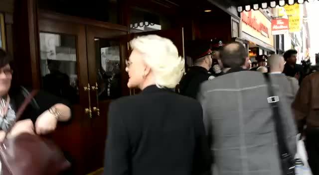 Sharon Gless Greets PFLAG President Irene Miller Outside The Toronto Ally Awards Where She Is To Be Honoured