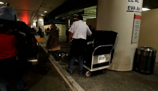 Victoria Beckham's Massive Hoard Of Luggage Is Loaded On To A Truck As The Star Arrives At LAX - Part 2