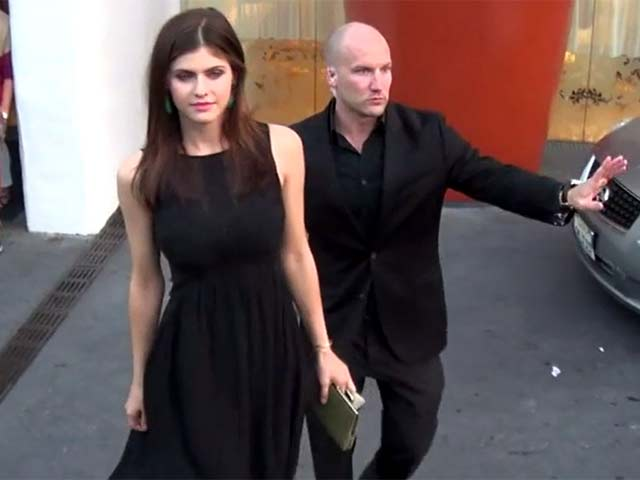 Alexandra Daddario Arrives at 13th Annual InStyle Summer Soiree At The Mondrian Hotel - Part One