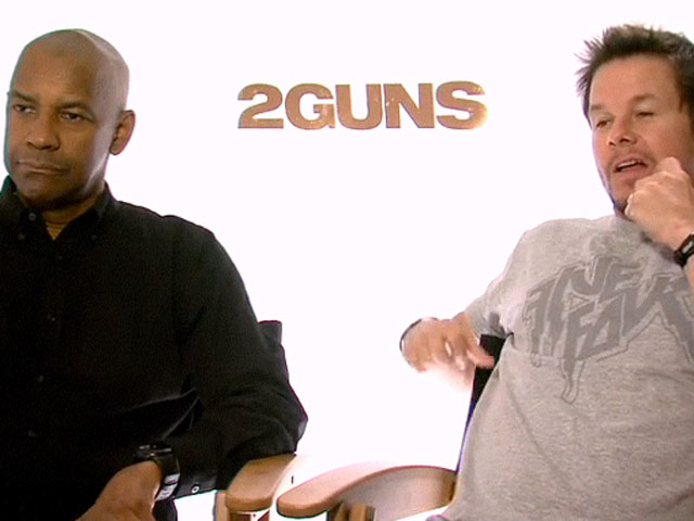 Mark Wahlberg And Denzel Washington Joke Around In '2 Guns' Interview