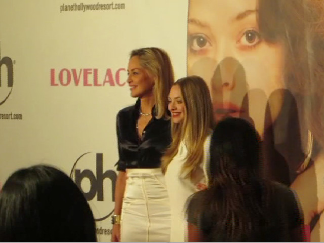 Amanda Seyfried And Sharon Stone Made A Glamorous Duo At The Vegas Screening Of 'Lovelace'