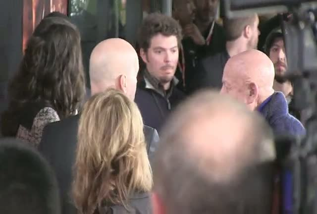 Bruce Willis And Jai Courtney Greet Fans At 'A Good Day To Die Hard' Screening