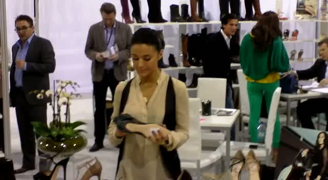 Emmanuelle Chriqui Poses With Shoes From Her New Line With Charles David