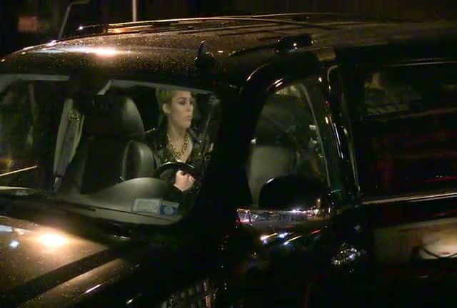 Miley Cyrus Dazzles Outside At Cosmopolitan...