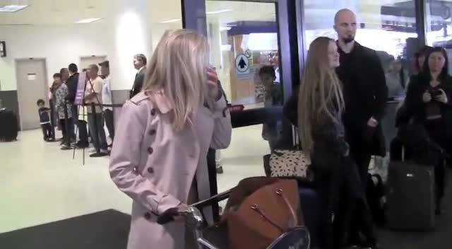 Mollie King Appears Slightly Lost As She Arrives At LAX Alone