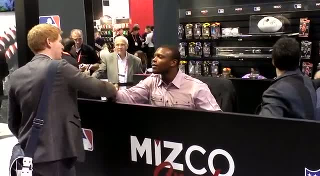Baseball Star Justin Upton Greets Fans With Mizco At Consumer Electronics Show