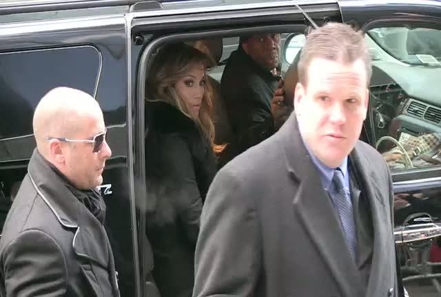 Jennifer Lopez Greets Fans Outside 'Good Morning America' Studios