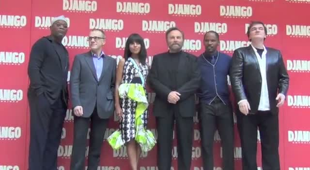 Quentin Tarantino, Jamie Foxx And Samuel L Jackson At Rome's 'Django Unchained' Photocall