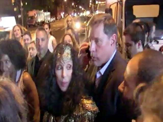 Cher Struggles To Leave A New York Club Through A Tight Throng Of Eager Fans