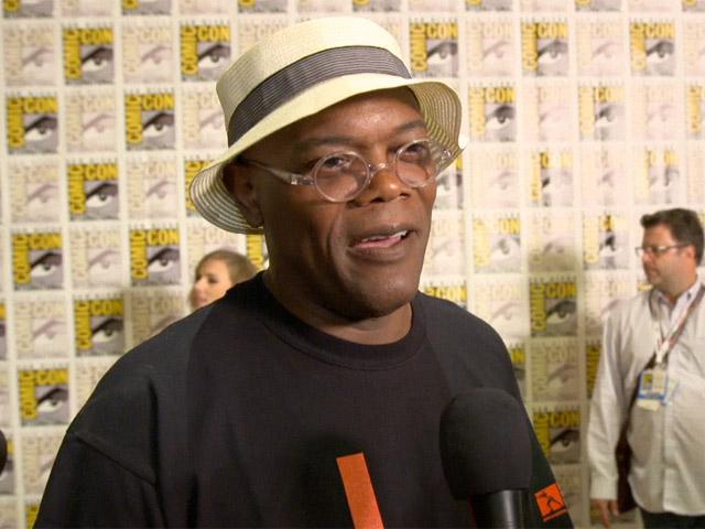 Samuel L Jackson Praises Comic-Con On Arrival Where He Promotes 'Captain America: The Winter Soldier'